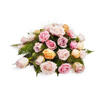 Funeral arrangement with beautiful roses